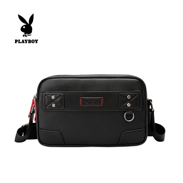 PLAYBOY GENUINE LEATHER SLING BAG PKE 9203 BLACK