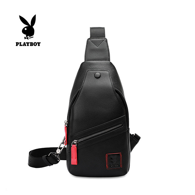 PLAYBOY GENUINE LEATHER CHEST BAG PKF 2624 BLACK