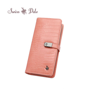 SWISS POLO LADIES LONG ZIP PURSE PALMER