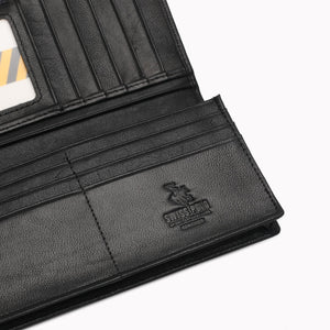 SWISS POLO GENUINE LEATHER RFID LONG WALLET SW 134-1 BLACK