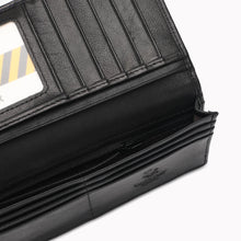 Load image into Gallery viewer, SWISS POLO GENUINE LEATHER RFID LONG WALLET SW 134-1 BLACK