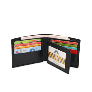 SWISS POLO GENUINE LEATHER RFID SHORT WALLET SW 134-2 BLACK