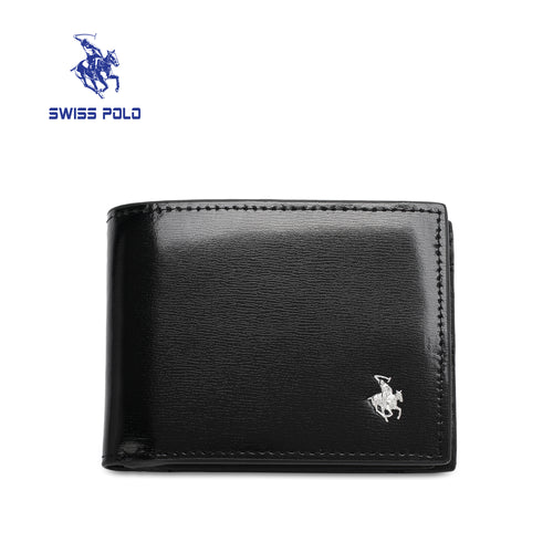SWISS POLO RFID BLOCKING SHORT WALLET SW 158-2 BLACK