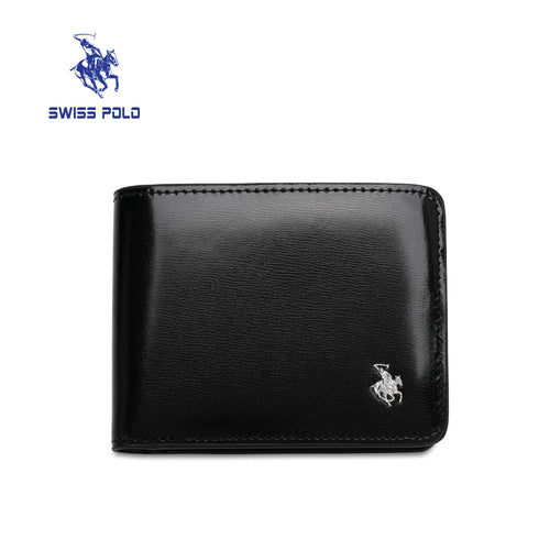 SWISS POLO RFID BLOCKING SHORT WALLET SW 158-3 BLACK