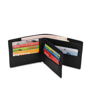 SWISS POLO RFID BLOCKING SHORT WALLET SW 158-4 BLACK
