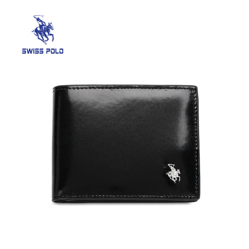 SWISS POLO RFID BLOCKING SHORT WALLET SW 158-6 BLACK