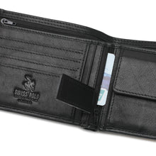 Load image into Gallery viewer, SWISS POLO GENUINE LEATHER RFID SHORT WALLET SW 167-6 BLACK
