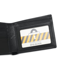 Load image into Gallery viewer, SWISS POLO GENUINE LEATHER RFID SHORT WALLET SW 167-9 BLACK