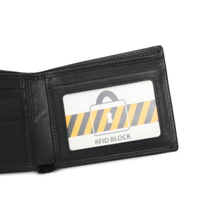 SWISS POLO GENUINE LEATHER RFID SHORT WALLET SW 167-9 BLACK