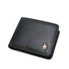Load image into Gallery viewer, SWISS POLO GENUINE LEATHER RFID SHORT WALLET SW 168-5 BLACK