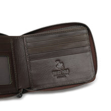 Load image into Gallery viewer, SWISS POLO GENUINE LEATHER RFID ZIPPER SHORT WALLET SW 169-7 BROWN