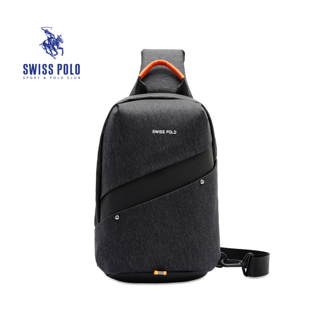 SWISS POLO WATER RESISTANT CHEST BAG SXL 907 BLACK