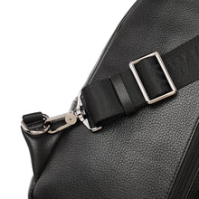 Load image into Gallery viewer, SWISS POLO GENUINE LEATHER CHEST BAG SXL 9221 BLACK