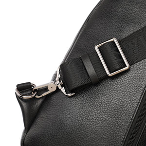 SWISS POLO GENUINE LEATHER CHEST BAG SXL 9221 BLACK