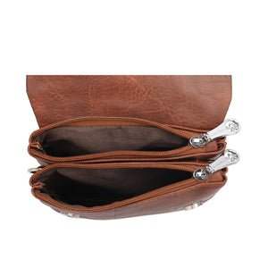 SWISS POLO SLING BAG SXM 102S-2 BROWN