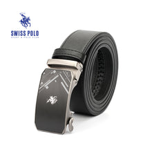 Load image into Gallery viewer, SWISS POLO 40MM LEATHER AUTOMATIC BELT WAB 449-2 BLACK