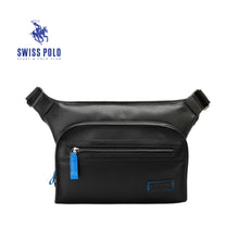 Load image into Gallery viewer, SWISS POLO GENUINE LEATHER CROSSBODY BAG SXL 9210 BLACK