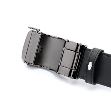 Load image into Gallery viewer, SWISS POLO 40MM LEATHER AUTOMATIC BELT WAB 449-1 BLACK