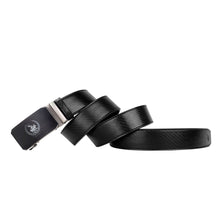 Load image into Gallery viewer, SWISS POLO 40MM LEATHER AUTOMATIC BELT WAB 451-1 BLACK