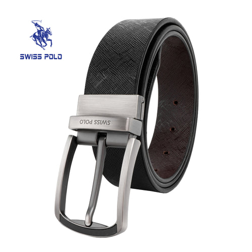 SWISS POLO 35MM REVERSIBLE BELT WAB 454-1 BLACK / BROWN