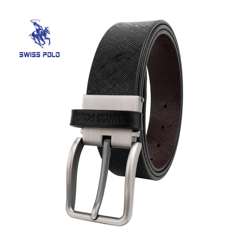 SWISS POLO 35MM REVERSIBLE BELT WAB 455-1 BLACK / BROWN