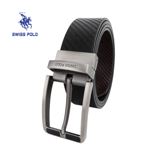 SWISS POLO 35MM REVERSIBLE BELT WAB 457-2 BLACK / BROWN