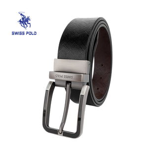 SWISS POLO 35MM REVERSIBLE BELT WAB 458-1 BLACK / BROWN