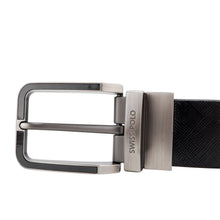 Load image into Gallery viewer, SWISS POLO 35MM REVERSIBLE BELT WAB 458-1 BLACK / BROWN
