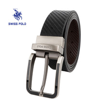 Load image into Gallery viewer, SWISS POLO 35MM REVERSIBLE BELT WAB 458-2 BLACK / BROWN