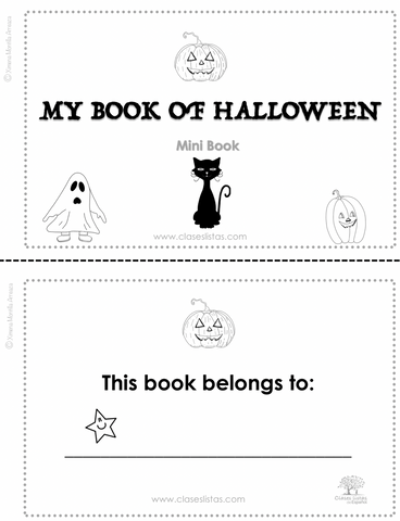Halloween, Minibook, (minibook + audio) .(English version)