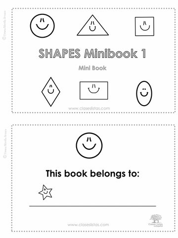 Shapes  Minibook, 2 Minibooks (English version)