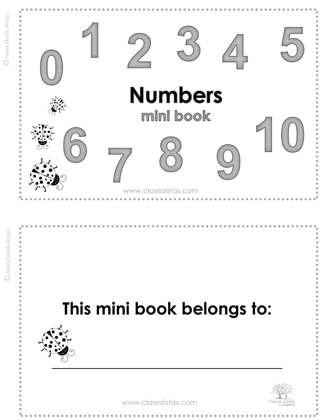Numbers Minibook  (English version)