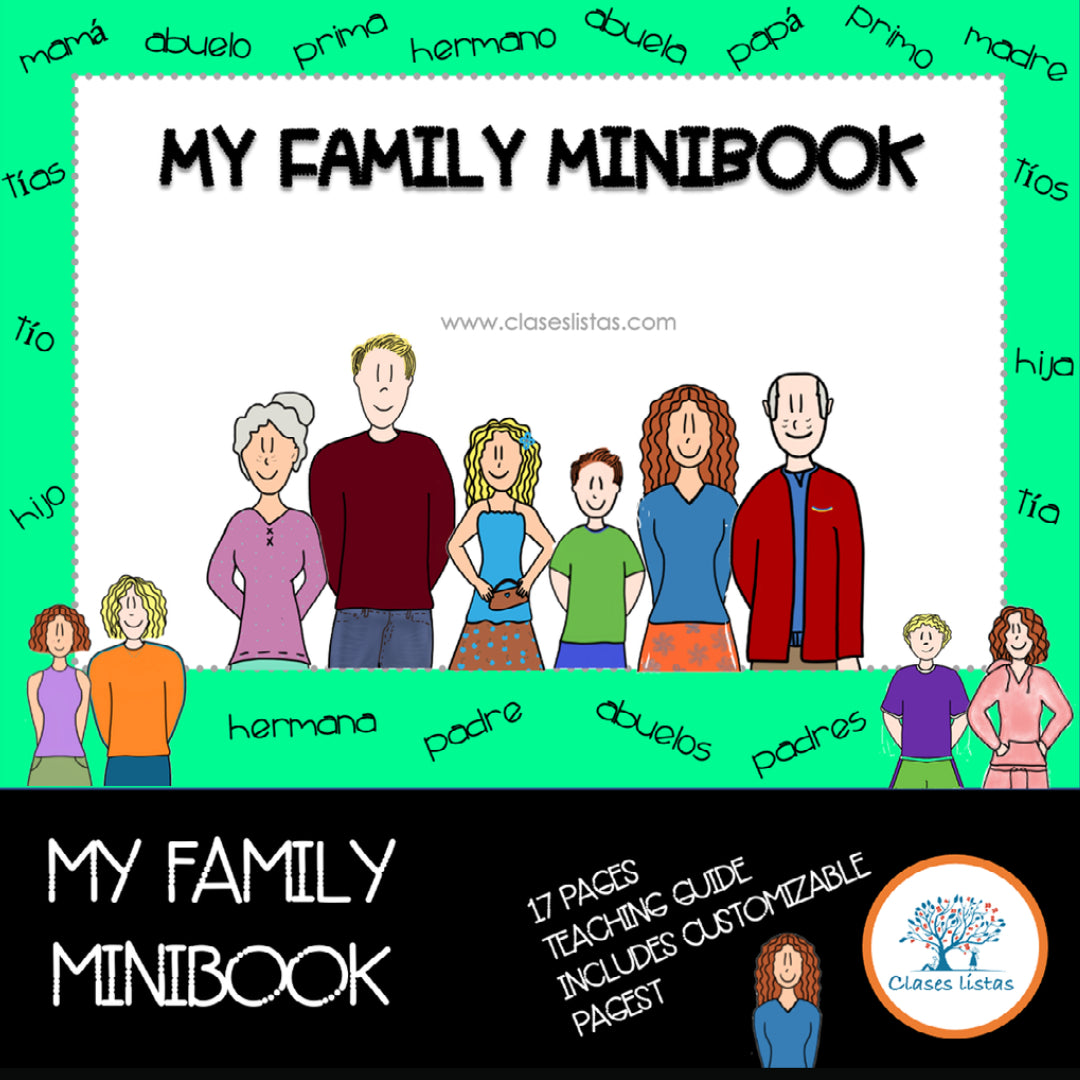 My Family, Minibook (English version)