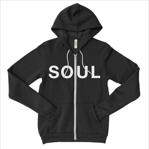 Zippered Hoodie - Black & White