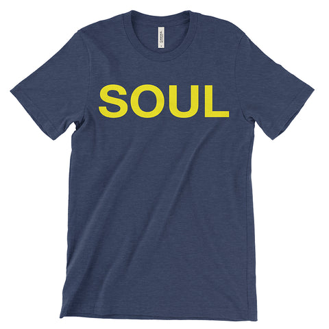 Heather Navy & Yellow Men's T-Shirt