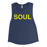 Heather Navy & Yellow Women's Tank