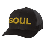 Black & Gold SOUL Trucker Hat - PREORDER
