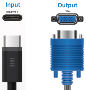 BluPeak USB-C to VGA Adapter
