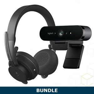 Logitech Zone Wireless Headset & Brio Webcam Bundle