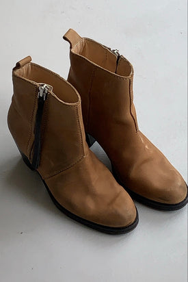 Acne Studios Brown Ankle Boots