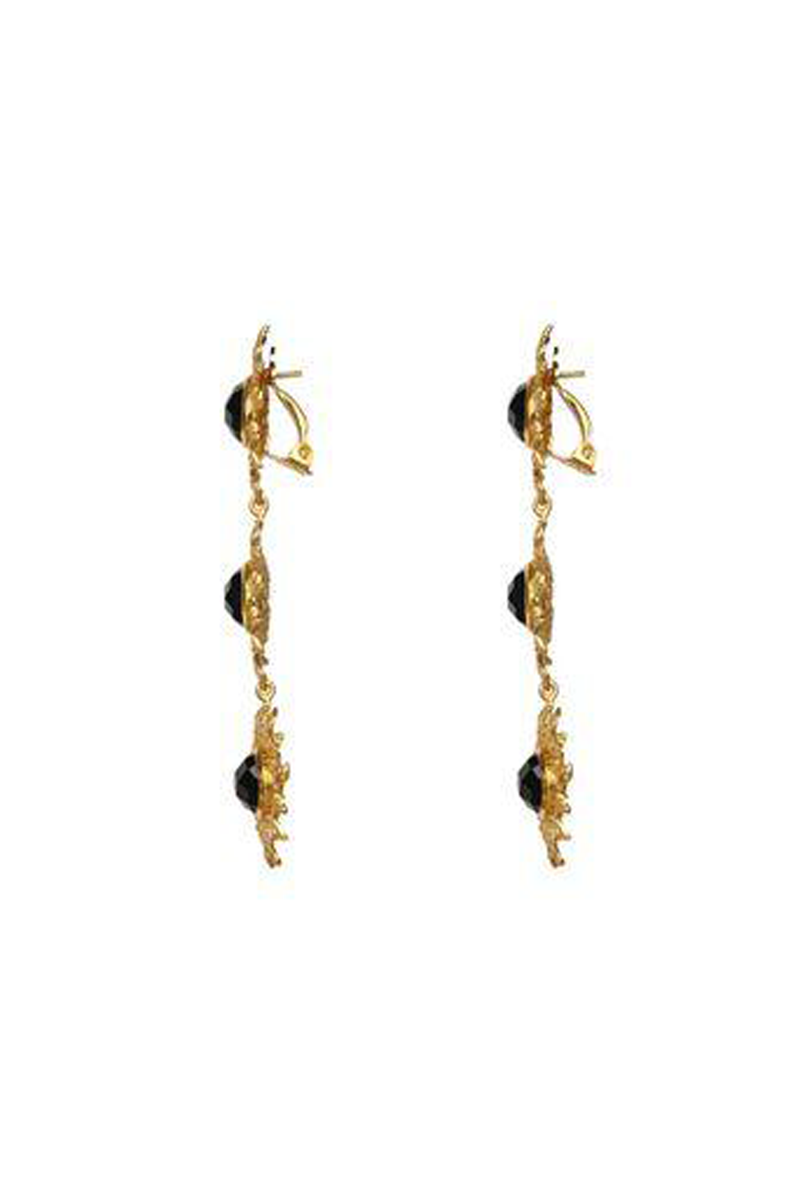 Valere Lei II Earrings - Black Onyx
