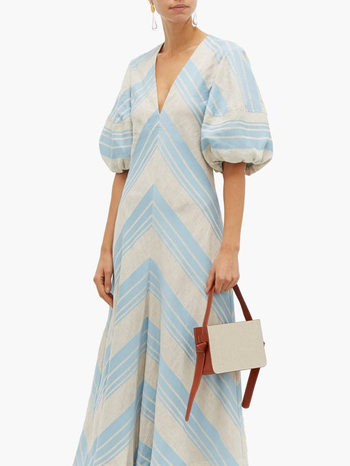 Lee Mathews Tilda Puff Sleeve Dress