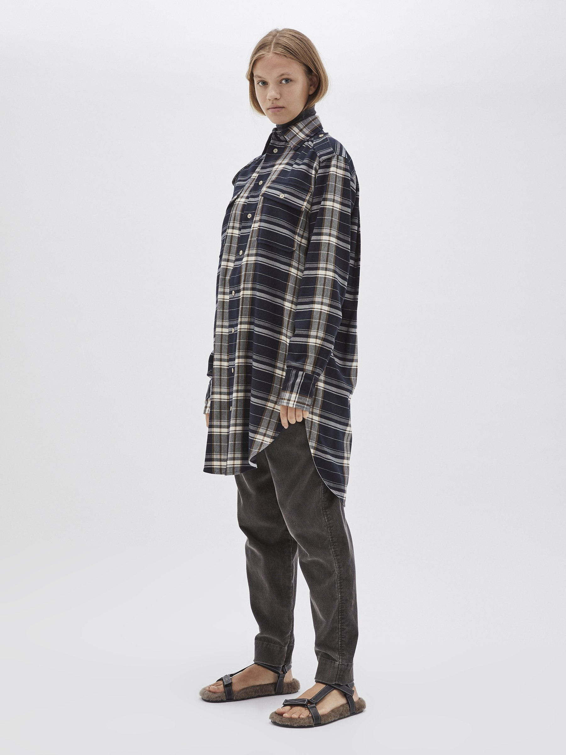 Bassike - Utility Shirt Dress, Check