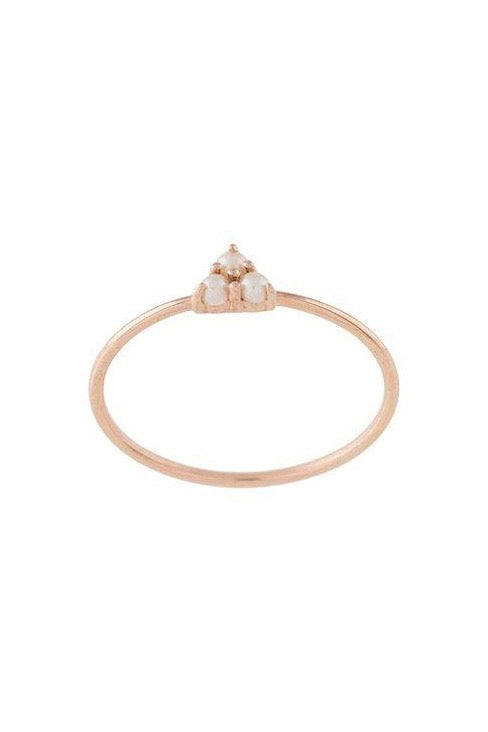 Natalie Marie - Pearl Trio Ring, 9ct Rose Gold - Worn For Good