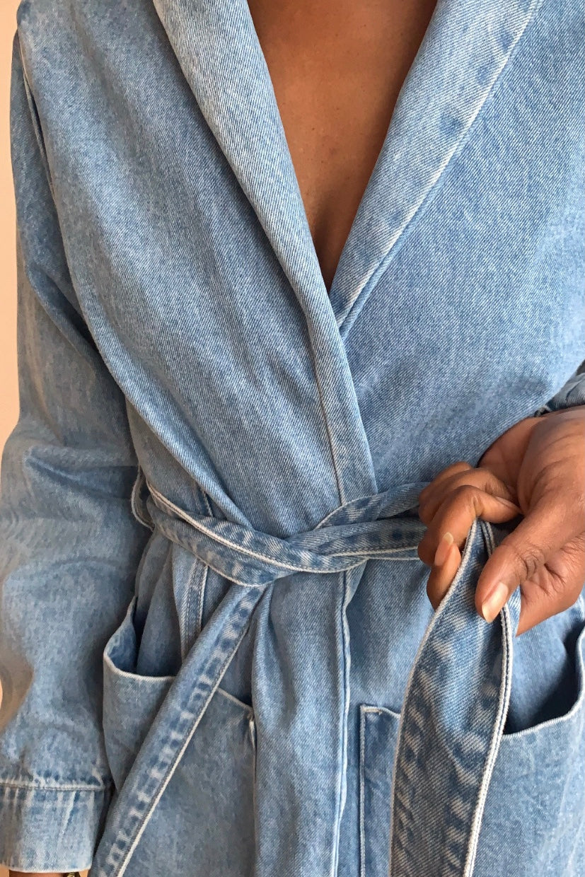 Neuw Denim Blue Wrap Jacket
