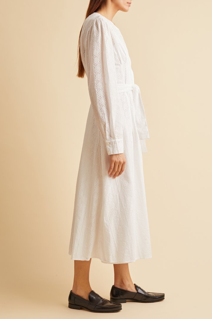 Merlette - Clarendon Dress, White - Worn For Good