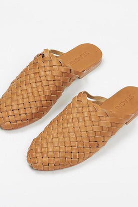 St Agni - Bunto Woven Loafers, Almond - Worn For Good