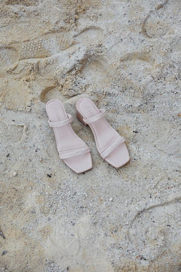 St Agni - Camille Sandal, Seashell - Worn For Good