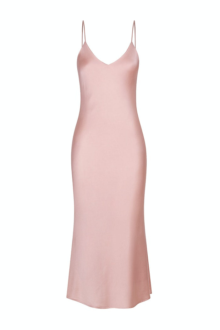 Hansen and Gretel Demi Silk Dress Dusty Pink