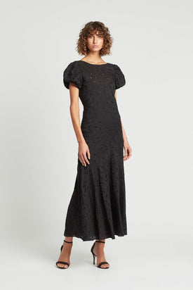 SIR The Label Elodie Panelled Gown - Black